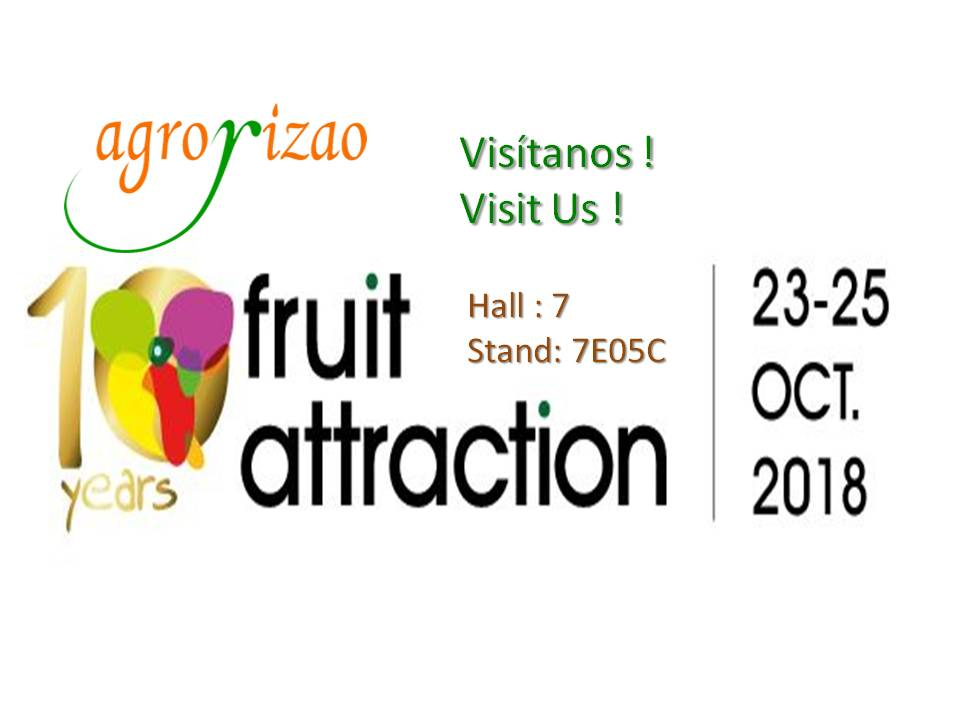 Nos vemos muy pronto en Fruit Attraction 2018! ;)