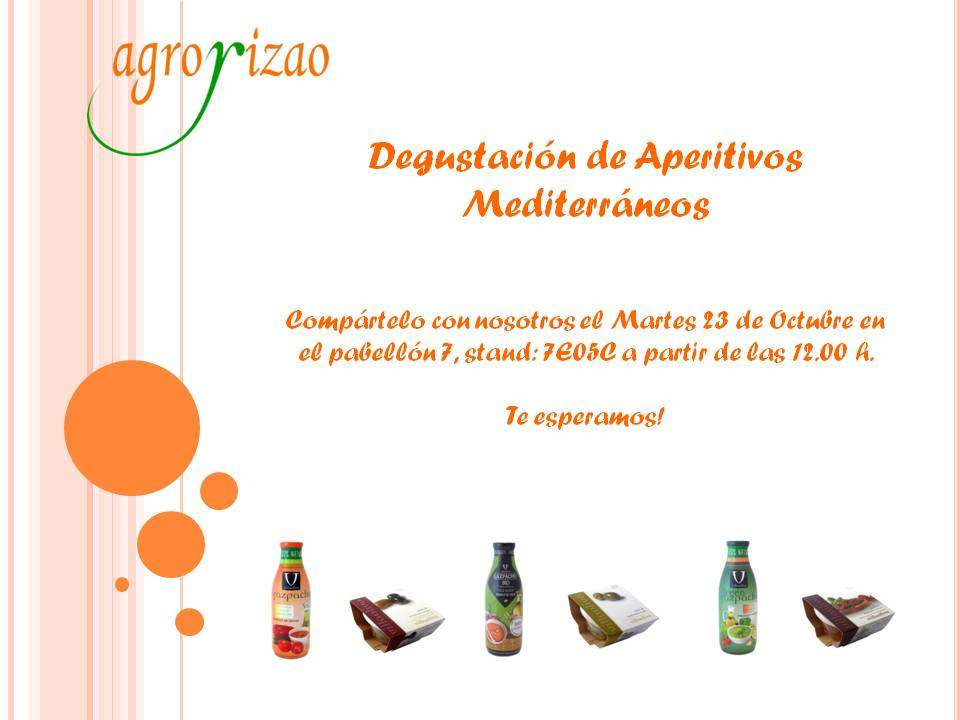 Desgustación en Fruit Attraction el martes 23/10/2018